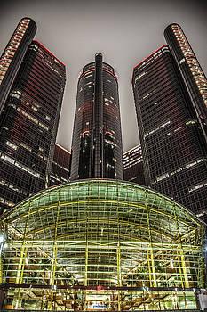 Renaissance Center Detroit Michigan by Nicholas  Grunas