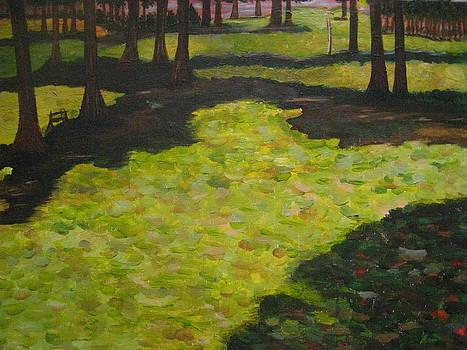 Rendition of Kandinsky's St. Cloud Park by April Maisano