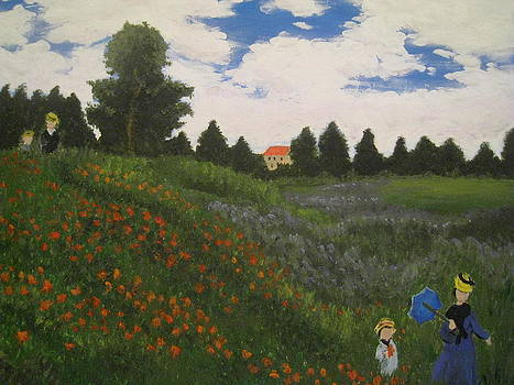 Rendition of Monet's Poppy Field by April Maisano