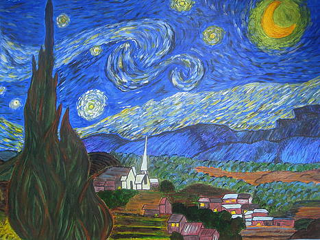 Rendition of Starry Starry NIght by April Maisano