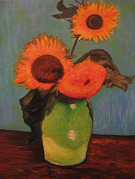 Rendition of Van Gogh's Sunflowers by April Maisano