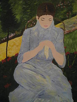 Rendition of Woman in Garden by April Maisano