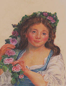 Rendition of Young Girl from Elisabeth Vigee LeBrun by Pamela Humbargar