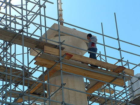Renovating The Parthenon by Angela Zafiris