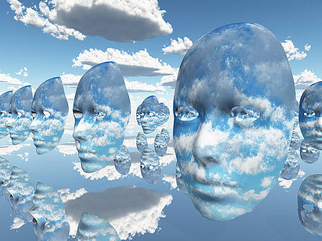 Repeating faces of clouds by Bruce Rolff