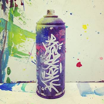 RESKEW spraycan purple by Miles Wickham
