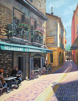 Restaurant at Collioure France  by Philip Gianni