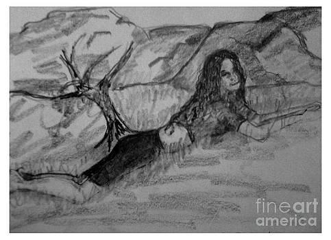Resting in Grass by Joseph Wetzel