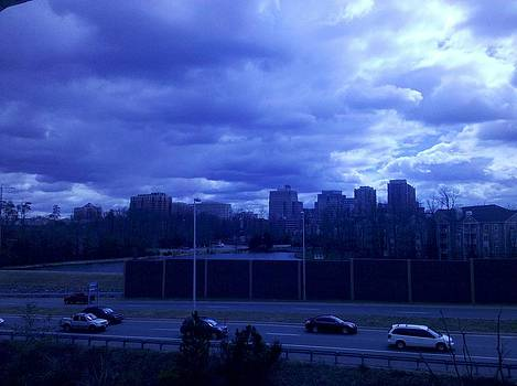 Reston Skyline with Clouds 1 by Lee Altman