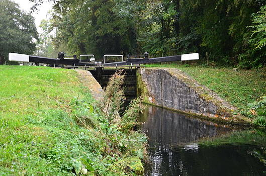 Retired Canal locks by Fred Whalley