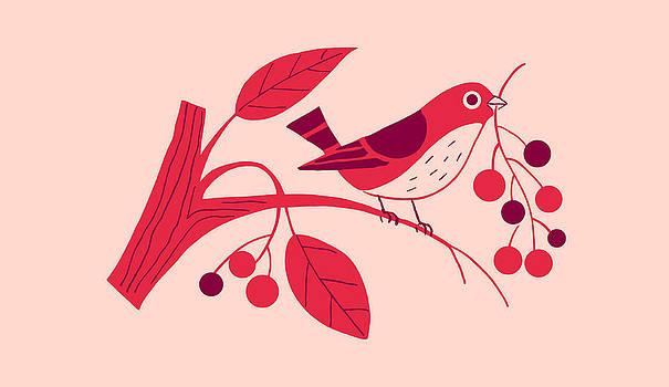 Nancy Lorene - RETRO BERRY BIRD Pink Panache