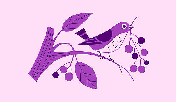 Nancy Lorene - RETRO BERRY BIRD Pretty Purple