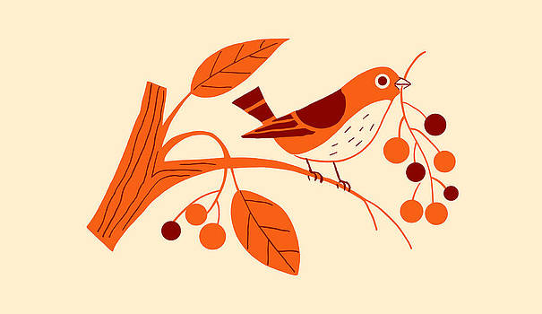 Nancy Lorene - RETRO BERRY BIRD Summer Sunshine