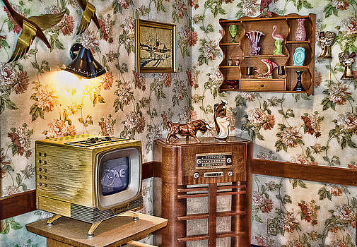 Retro Living Room by Kathy Jennings