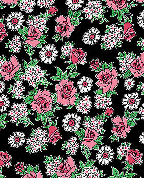 Nancy Lorene - RETRO ROSES in Black and Pink