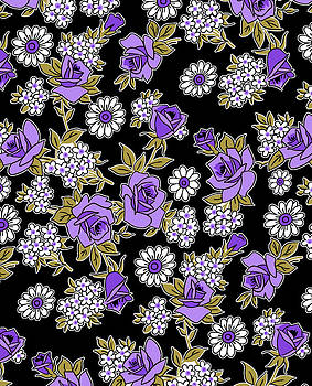 Nancy Lorene - RETRO ROSES in Black and Purple