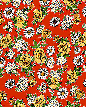 Nancy Lorene - RETRO ROSES in Red and Yellow