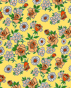Nancy Lorene - RETRO ROSES in Yellow and Orange