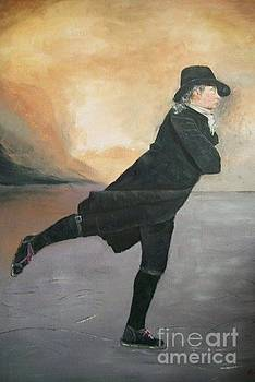 Reverend Walker skating by Robert Arsenault