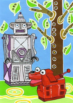 Rex the Robot Dog and Robot Friend by Lynnda Rakos