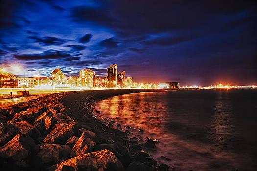 Reykjavik at Night by Craig Brown