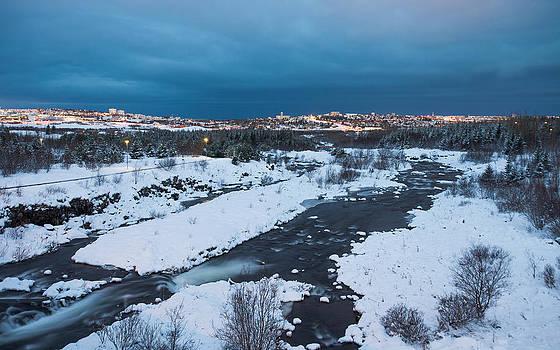 Reykjavik before sunrise by Arnar B Gudjonsson