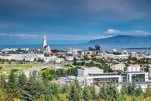 Reykjavik Iceland Panorama by Cliff C Morris Jr
