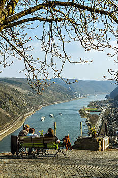 Rhine Gorge from above Oberwesel by David Davies