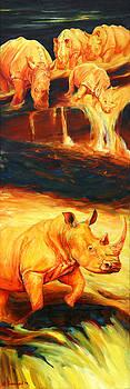 Rhinos for Pele Vulcan by Sarah Soward
