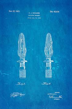 Ian Monk - Rhoades Hood Ornament Patent Art 1923 Blueprint