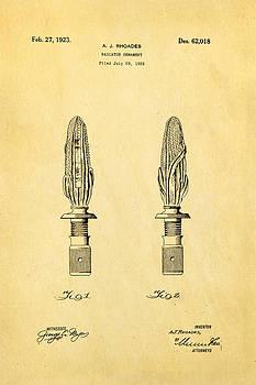 Ian Monk - Rhoades Hood Ornament Patent Art 1923