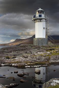 Rhue Lighthouse reflected by Bob Falconer