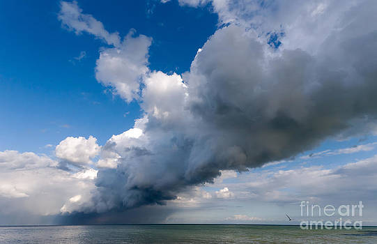 Rain Storm off St Margrets Bay by John Gaffen