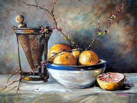 Ricer and Redbuds by Cynara Shelton