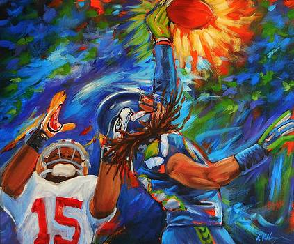 Richard Sherman Playoff by Angie Villegas