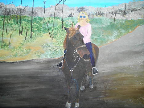 Ride em' cowgirl by Linda Bright Toth