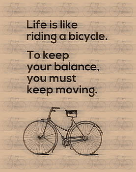 Riding A Bicycle And Keep Moving by Gina Dsgn