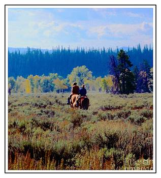 Riding In The Tetons by Kathleen Struckle