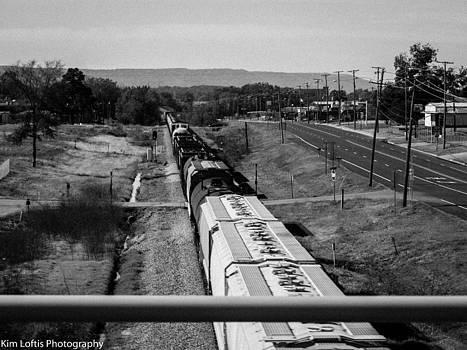 Riding the rails  by Kim Loftis