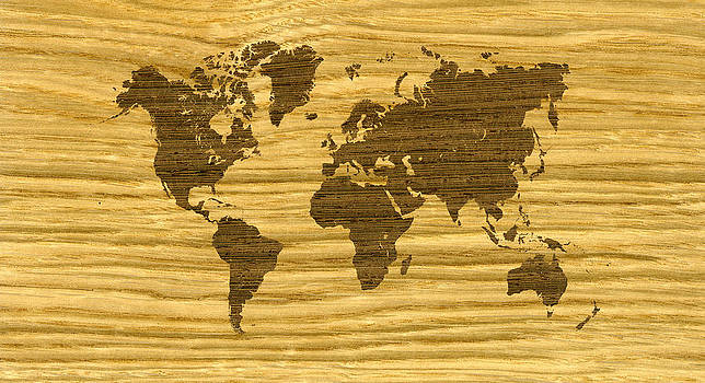 Hakon Soreide - Rift Oak and Wenge World Map