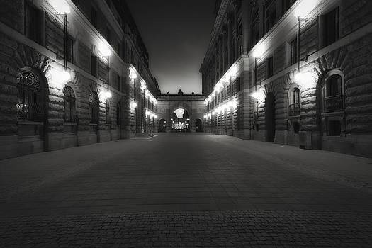 Riksgatan in Summer Twilight Black and White - Stockholm - Sweden by Photography  By Sai