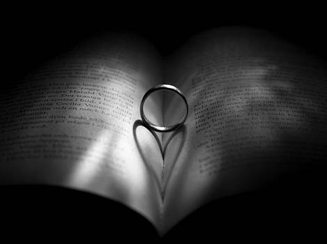 Ring with heart shadow by Kenneth Forland