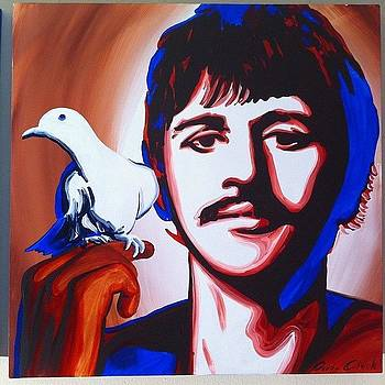 Ringo Starr #thebeatles Original by Ocean Clark