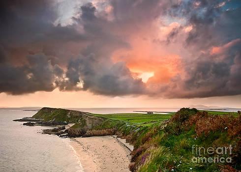 Rinvyle Point Sunset by Derek Smyth