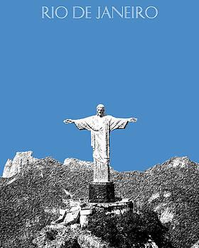 DB Artist - Rio de Janeiro Skyline Christ the Redeemer - Slate