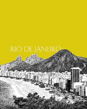 DB Artist - Rio de Janeiro Skyline Copacabana Beach - Mustard