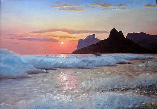 Rio de Janeiro Sunset - Leblon by Wagner Chaves