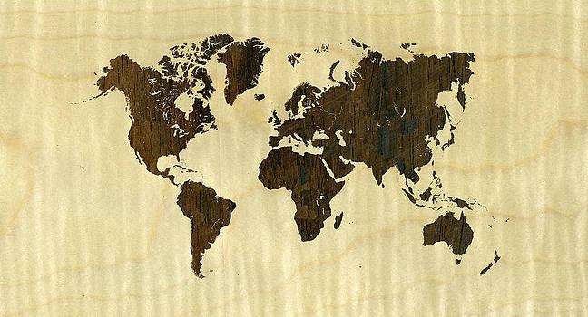 Hakon Soreide - Rio Rosewood and Curly Maple World Map