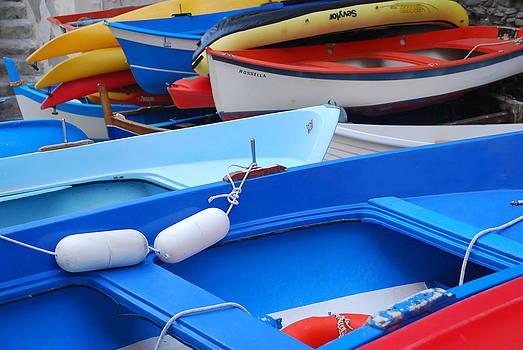 Riomaggiore Boats at Rest  by Michael Tieman