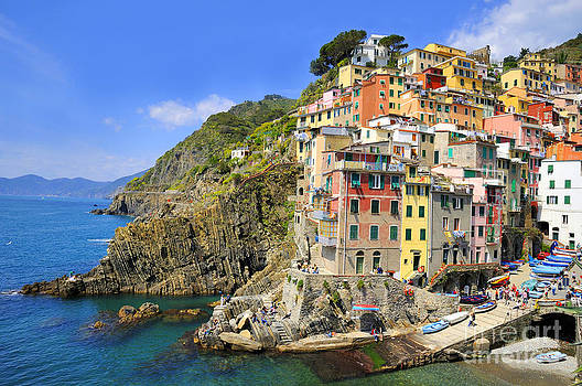 Riomaggiore Italy by Skyfish Images